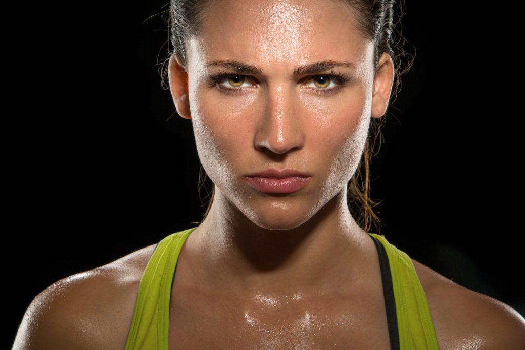 Intense stare eyes determined athlete champion glare ...