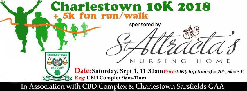 Charlestown 10K 1st September 11:30 plus 5K fun run | RunIreland com