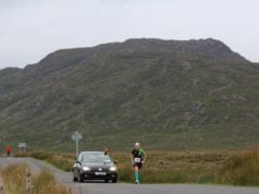 Nichola running along the Connemara 100 route