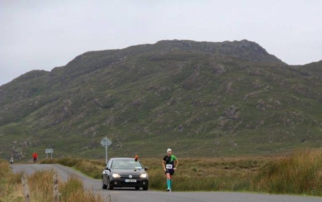 Nichola running along the Connemara 100 route