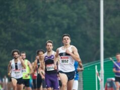 *Photo: Louis O'Loughlin leading the field in the 800m.